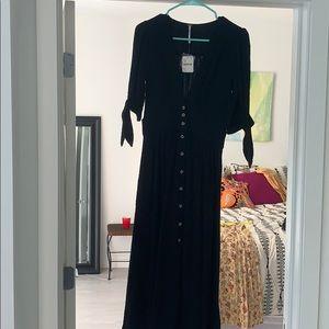 Free people Love of my Life Midi Dress, Black. XS